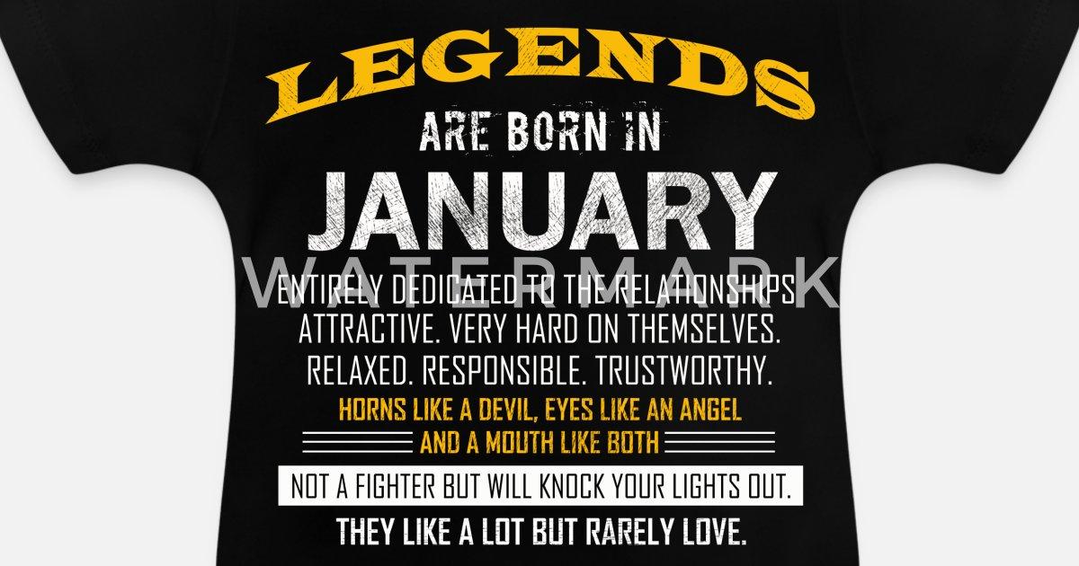 Legends Januar Coole Spruche Geburtstag Baby T Shirt Spreadshirt