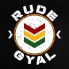 Rude Gyal white distressed - Baby T-Shirt