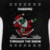 Funny Ugly Christmas Dabbing Through The Snow  - Baby T-Shirt