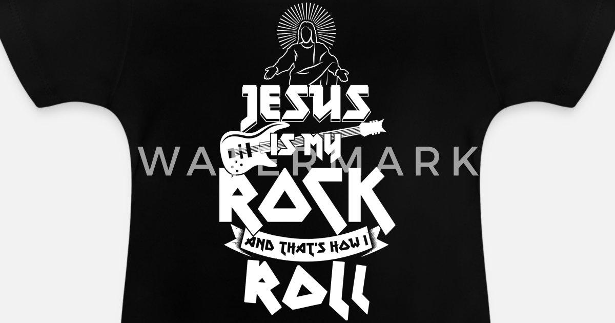 Jesus is my rock Bible believers Christian church music Baby T-Shirt |  Spreadshirt