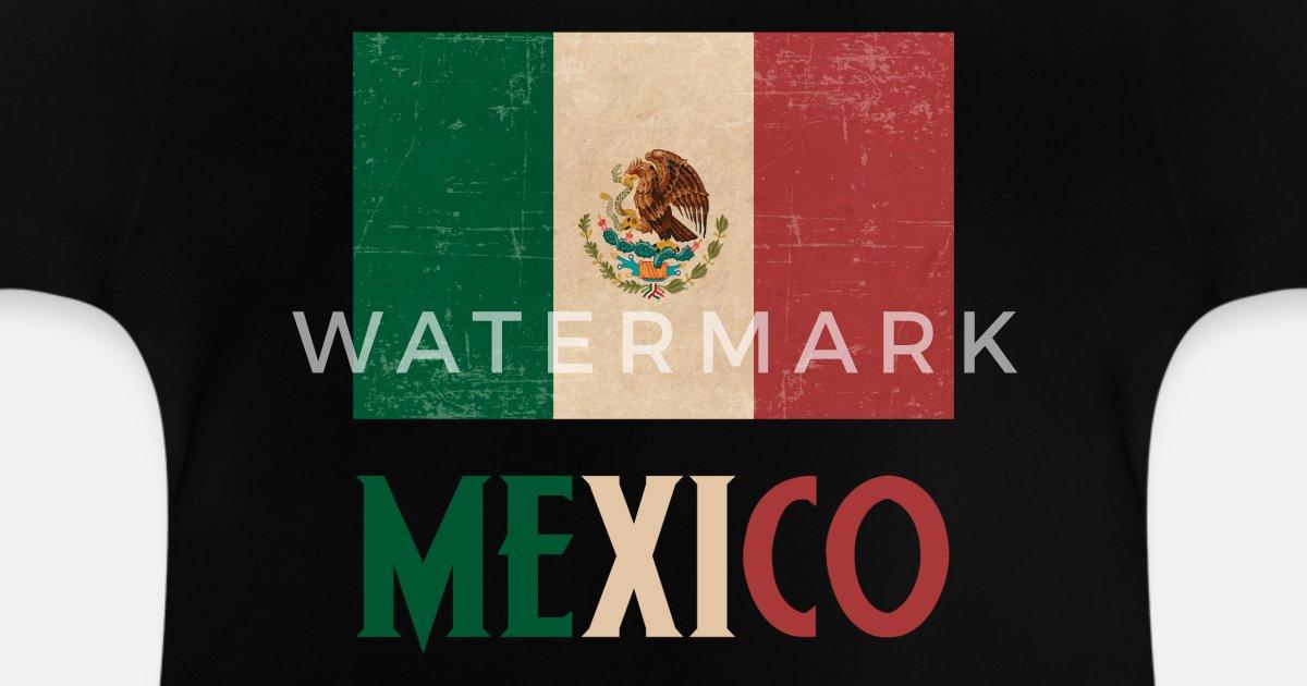 41121745c México bandera país raíces mexicano mexicano Camiseta bebé