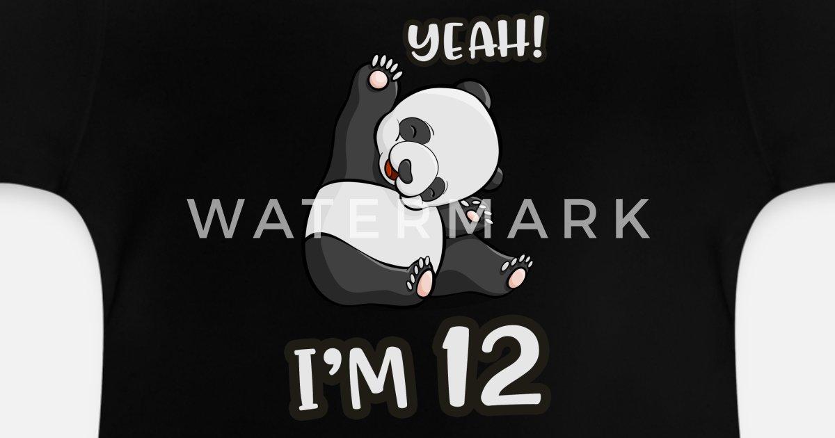 12 Geburtstag Panda Madchen Pandabar Geschenk Baby T Shirt