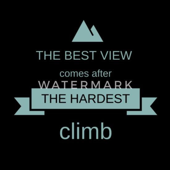 Berg Bergsteigen Klettern Boulder Spruch Geschenk Baby T