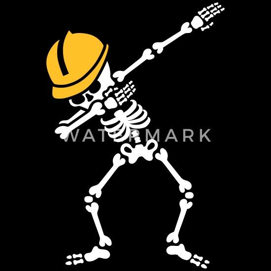 Dab skeleton dabbing construction worker enginer T shirt
