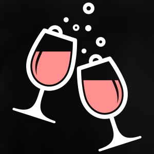 Two Wine Glasses - Baby T-Shirt