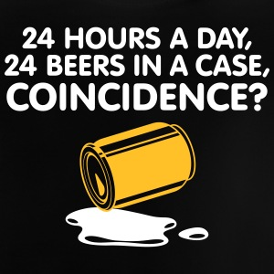 24 Hours A Day ,24 Beers In A Case,Coincidence? - Baby T-Shirt
