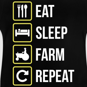 Eat Sleep Farm Gjenta - Baby-T-skjorte