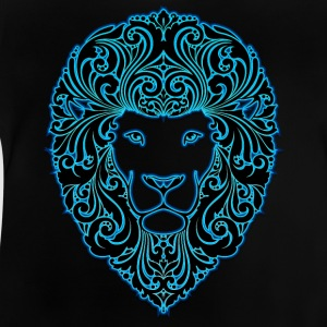 lion with ornament hairs 2 black neon - Baby T-Shirt