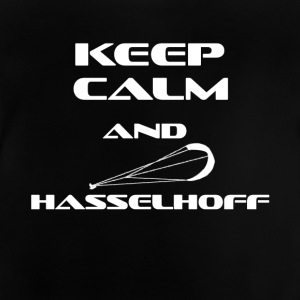 KITESURFING KEEP CALM AND HASSELHOFF - Baby T-Shirt