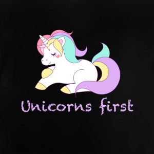 Unicorns først - Baby T-shirt
