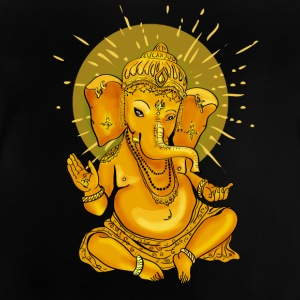Elephant yoga ohm meditation god ganesha gold swag - Baby T-Shirt
