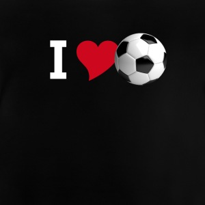 I love soccer love football tor team club player - Baby T-Shirt