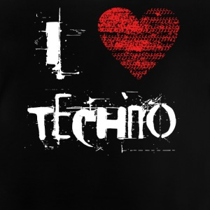 I love techno rave goa hardtek hard - Baby T-Shirt