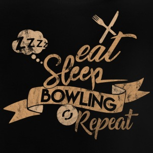 EAT SLEEP BOWLING REPETIR - Camiseta bebé
