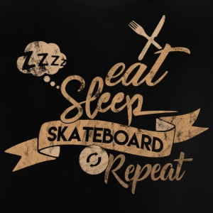 EAT SLEEP SKATE REPEAT - T-shirt Bébé