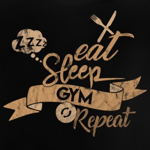 EAT SLEEP REPEAT GYM - T-shirt Bébé