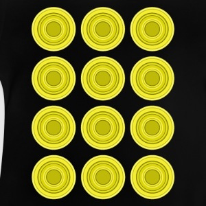 Retro Circles, yellow - Baby T-Shirt