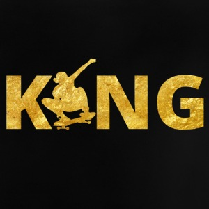 Skateboard King Gold Skater - Baby T-Shirt