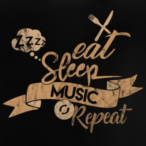 EAT SLEEP MUSIC REPEAT - Baby T-Shirt