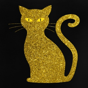 Golden Cat - Golden Cat Gold Glitter Glitter - Baby T-shirt