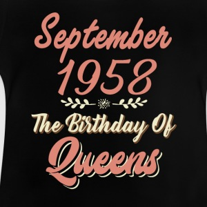September 1958 The Birthday Of Queens - Baby T-Shirt