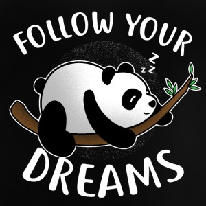 Follow your Dreams / Schlafender Panda - Baby T-Shirt
