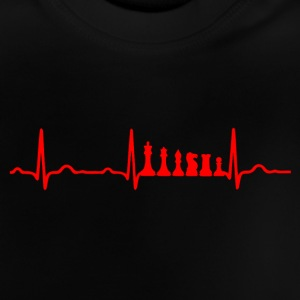 EKG HJÄRTSLAG CHESS Red - Baby-T-shirt
