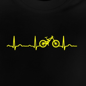 ECG HEARTBEAT MOUNTAINBIKE Geel - Baby T-shirt