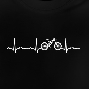 ECG HEARTBEAT MOUNTAINBIKE wit - Baby T-shirt