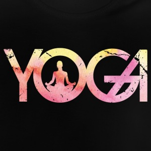 Yoga Typo Woman Watercolor Purple Yello - Baby T-Shirt