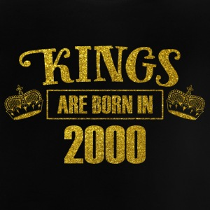 kings are born in 2000 - Geburtstag Koenig Gold - Baby T-Shirt