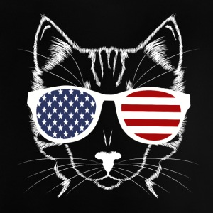 Meowica Funny American Cat With Sunglasses - Baby T-Shirt