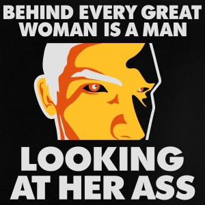Behind Every Great Woman Is A Horny Voyeur - Baby T-Shirt