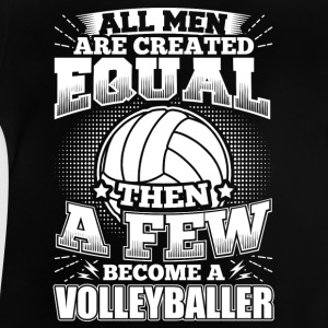 Rolig volleybollspelare shirt All Män Lika - Baby-T-shirt