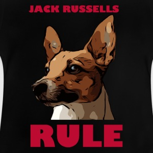 Jack russels rule red - Baby T-Shirt