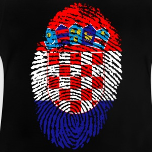 Fingerprint - Kroatië - Baby T-shirt