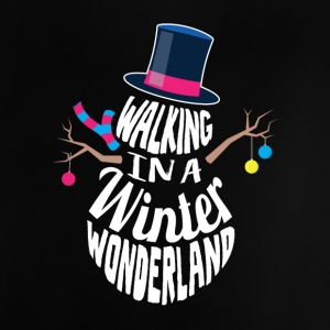 Walking i en Winter Wonderland Snemand - Baby T-shirt