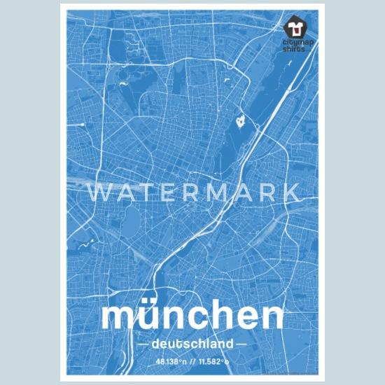 München Karte Deutschland.München Classic Stadt Karte Blau Baby T Shirt Spreadshirt