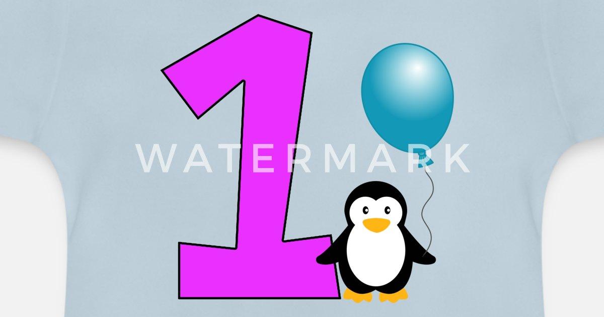 Joyeux Anniversaire Cadeau Pingouin Anniversaire 1 An T Shirt Bebe