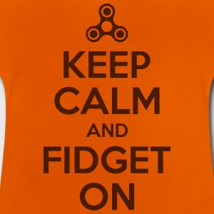Keep Calm and fidget På - Baby-T-skjorte