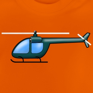 Helicopter dark green - Baby T-Shirt