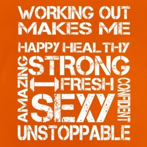 workout makes me sexy - Baby T-Shirt