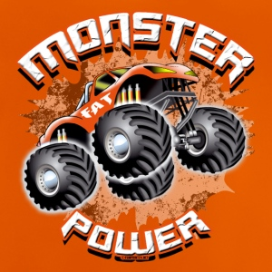 11A-02 MONSTER POWER TRUCK - FAT WHEEL - Baby T-Shirt