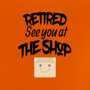 Retired zie je in de winkel - Baby T-shirt