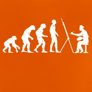 Evolution of painter painting - Baby T-Shirt