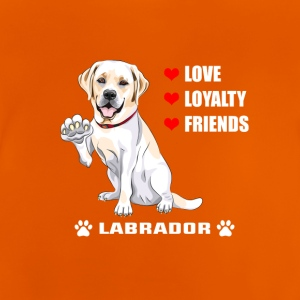 Pet T-shirt | Labrador - Love - Loyalitet - Friend - Baby T-shirt