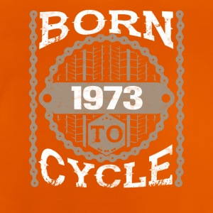 born to cycle moutainbike fahrrad 1973 - Baby T-Shirt