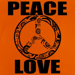 Peace Love T-skjorte Peace and Love Peace Sign - Baby-T-skjorte