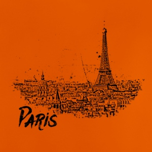 Paris - city view Sketch with Eiffel Tower - Baby T-Shirt