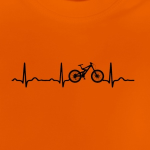 ECG HEARTBEAT MOUNTAINBIKE Black - Baby T-shirt